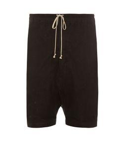 Rick Owens | Mesh-Overlay Dropped-Crotch Shorts