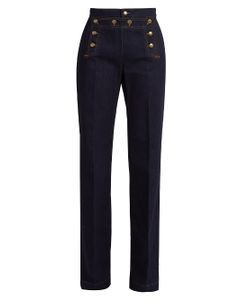 RED Valentino | High-Rise Wide-Leg Jeans