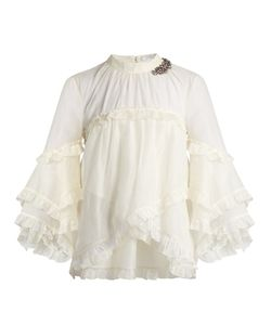 Erdem | Rexana Ruffled Cotton-Blend Top