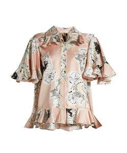 Roksanda | Roslerprint Double-Georgette Shirt