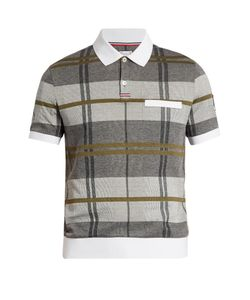 Moncler Gamme Bleu | Checked Cotton-Piqué Polo Shirt