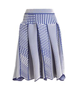 Issey Miyake   Tribal-Print Pleated Skirt