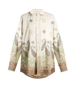 Ashish | Oversized Paisley-Embroide Cotton Shirt