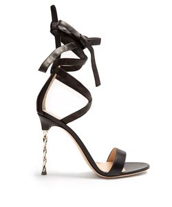 Gianvito Rossi | Cocktail Ankle-Tie Leather Sandals