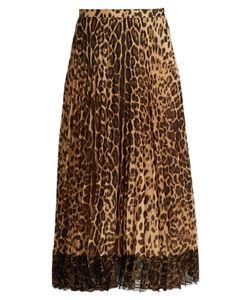 RED Valentino | Pleatedprint Midi Skirt