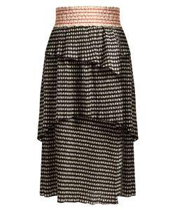 Rosie Assoulin | Mountain Range Seersucker Gingham Midi Skirt