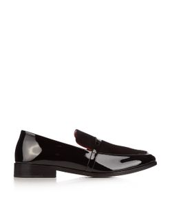 Newbark | Melanie Patent-Leather And Suede Loafers
