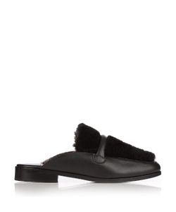 Newbark | Melanie Shearling And Leather Loafers
