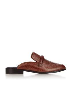 Newbark | Melanie Lizard-Effect Leather Loafers