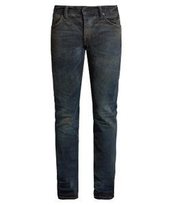 Mastercraft Union   Slim Tapered-Leg Washed-Resin Jeans