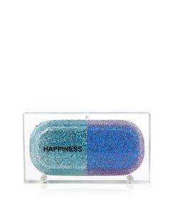 Sarah's Bag   Happiness Pill Glitter Perspex Clutch