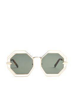 Karen Walker Eyewear | Emmanuel Hexagon-Frame Sunglasses