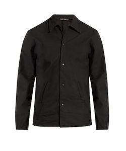 Longjourney   Point-Collar Leather Jacket