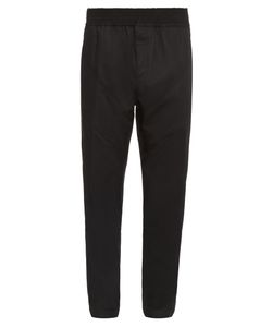 Givenchy   Chevron Seamed-Panels Relaxed Trousers