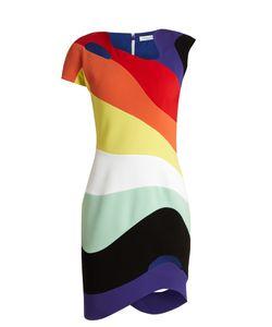 Mugler   Rainbow-Panel Cut-Out Dress