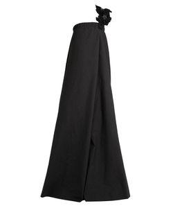 Brunello Cucinelli   Strap-Embellished One-Shoulder Cotton Gown