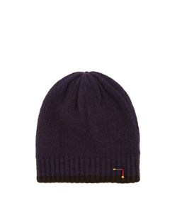 Blue Blue Japan | Contrast-Edge Wool-Blend Beanie Hat