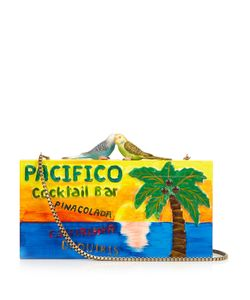 Sarah's Bag   Pacifico Carved Wooden Clutch