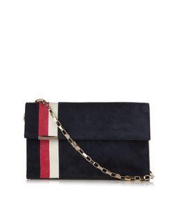 Tomasini | Miura Striped Suede Shoulder Bag
