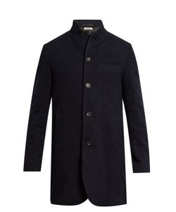 Blue Blue Japan | Inverted Peak-Lapel Cotton And Wool-Blend Overcoat