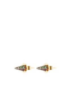 Noor Fares | Diamond Sapphire Ruby Yellow-Gold Earrings