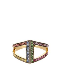 Noor Fares | Diamond Sapphire Ruby Yellow-Gold Ring