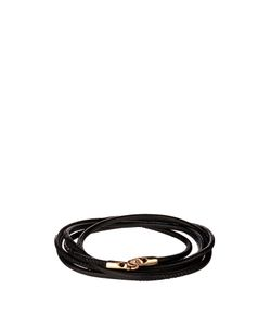 Luis Morais | Rose-Gold And Leather Bracelet