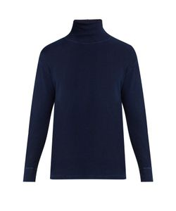 Blue Blue Japan | High-Neck Stretch-Cotton Sweater