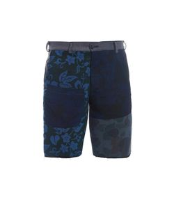 Longjourney   Raw-Edge Flat-Front Shorts