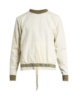 Longjourney   Nash Back-Zip Cotton-Canvas Sweatshirt