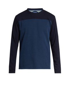 Blue Blue Japan | Contrast Yarn-Dyed Cotton-Jersey Sweatshirt