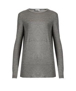 RAEY   Sheer-Panel Long-Sleeved T-Shirt