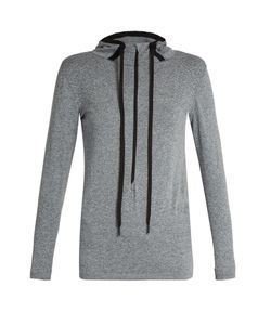 FALKE   Seamless Long-Sleeved Hooded Performance Top