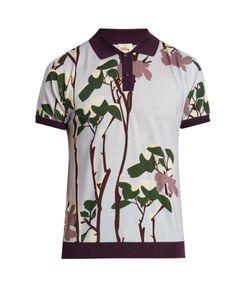 Orley | Snow Flower-Print Polo Shirt