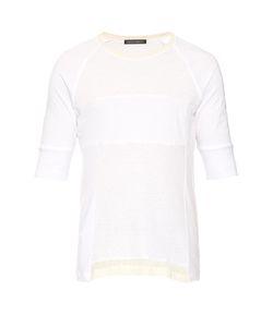 Longjourney   Patchwork Cotton-Jersey T-Shirt
