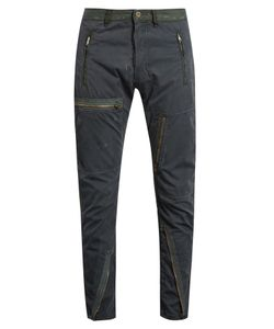 Longjourney   Flight Distressed Cotton-Twill Trousers