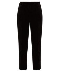 Racil | Aries Slim-Leg Velvet Trousers