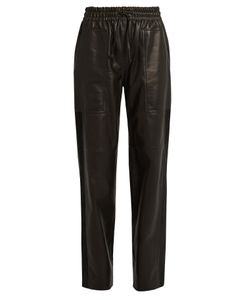 Joseph | Astrid Loose-Fit Leather Trousers