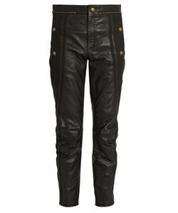 Chloé | Cropped Leather Trousers