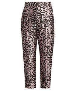 Haider Ackermann | Madeleine High-Rise Silk-Blend Jacquard Trousers
