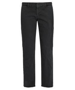 Nili Lotan | East Hampton Mid-Rise Cotton-Blend Chino Trousers