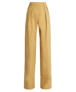 PALMER/HARDING | High-Rise Wide-Leg Stretch-Cotton Twill Trousers