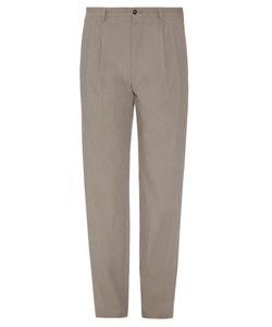 Giorgio Armani   Pleated Front Micro-Stripe Trousers
