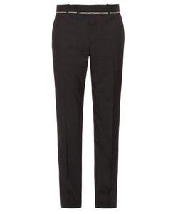 Alexander McQueen   Slim-Fit Raw-Edge Trousers