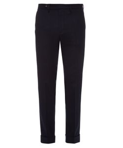 Gucci   Straight-Leg Flannel Wool-Blend Trousers
