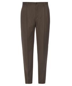Giorgio Armani   Pleated Flannel-Wool Trousers