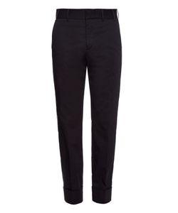 Gucci   Turn-Up Hem Cotton-Gabardine Trousers