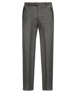Balenciaga   Wide-Leg Flannel-Wool Trousers