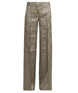 Racil | Libra Wide-Leg Metallic-Brocade Trousers
