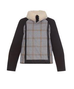 Moncler Gamme Rouge   Shearling-Collar Wool Jacket